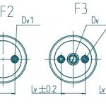 Изоляторы опорные. Конфигурации нижних и верхних креплений изоляторов