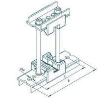 Шинодержатель МК 70100804 однополюсный с изолятором 50-10-1