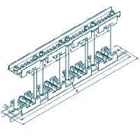 Шинодержатель четырехполюсный МК 70100718 с изолятором 75-10-2