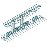 Шинодержатель четырехполюсный МК 70100771 с изолятором 75-5-4