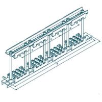 Шинодержатель четырехполюсный МК 70100704 с изолятором 87-10-3
