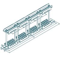 Шинодержатель четырехполюсный МК 70100706  с изолятором 87-5-4