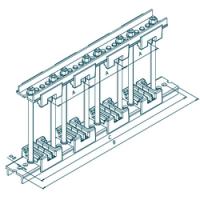 Шинодержатель четырехполюсный МК 70100825 с изолятором 50-5-2