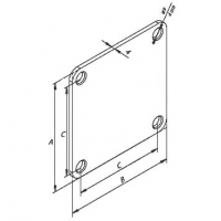 Пластина крепежная 60x60 (плашка КС-32)