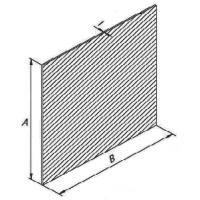 Пластина переходная М1м 50х55х1 (покрытие олово)