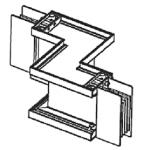 Шинопровод. Угол двойной z-образный горизонтальный