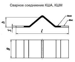 сварное соединение КША, КШМ